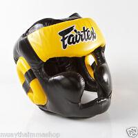 GENUINE Fairtex New Full Head Diagonal Vision Headguard 7days made to order HG13