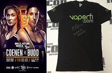 Marloes Coenen Signed Bellator MMA 174 Retirement Fight Worn Used Shirt BAS COA