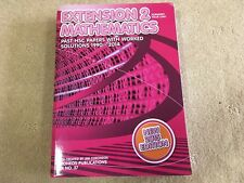 Coroneos HSC Mathematics Extension 2 Textbook | 1990-2014 Past Papers Solutions