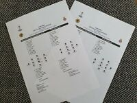 Wolves v Espanyol EUROPA LEAGUE Teamsheet ONLY! 20/2/20! FREE UK DELIVERY!!