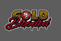 San Francisco 49ers Gold Blooded Bumper Window Vinyl Decal 7x3.5