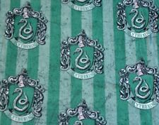 Harry Potter Fabric 1/2 Yard Slytherin Character Fleece 100% Polyester RARE 58in