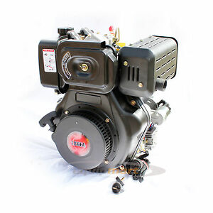 10 HP Diesel Engine 186FA 25.4mm Shaft Electric Start - Replacement Yanmar L100