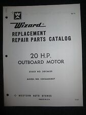 1970 Wizard Outboard Parts Catalog Manual 20 HP COC6620A07