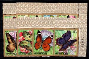 Burundi 1968 Mi. 427-435 MNH 100% Airmail butterflies, fauna, animals