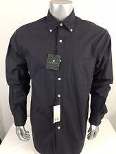 NEW Lyle & Scott Scotland Mens Sz M Black Purple Gray Stripe Button Front Shirt