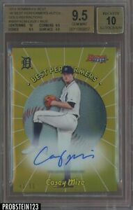 2018 Bowman's Best Gold Refractor Casey Mize RC Rookie AUTO Tigers BGS 9.5