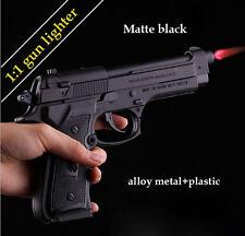 M9 Pistol cigarette Lighter 1:1 Metal Gun Windproof Gift For Man Color Black