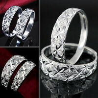 Wholesale Women/men Fashion Wedding Ring Silver Plated Jewelry Gift