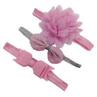 Girls Elastic Headband Children Hairband Set Hair Accessories Bowknot