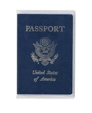1 Clear Transparent Passport Cover Vinyl Thick