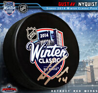 Gustav Nyquist signed 2014 Winter Classic Puck