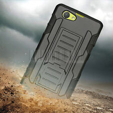 Rugged Hybrid Hard Case Armor Cover+Clip Holster Fr Sony Xperia Z1 Compact D5503