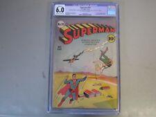 Superman #10 CGC 6.0 Comic Book  1941    1st Bald Luthor