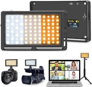 YiaMia Video Light for Camera, Broadcast Lighting Dimmable Color 3000K-6500K LED
