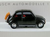 """Busch 48727 Fiat 500 (1965) """"on Tour"""" in schwarz 1:87/H0 NEU/OVP"""