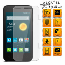 Alcatel One Touch Pixi 3 (4.0 inch) Transparent Tempered Glass Screen Protector