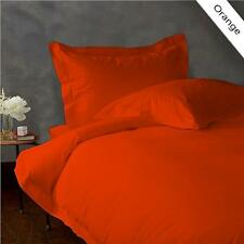 900 TC EGYPTIAN COTTON COMPLETE BEDDING COLLECTION 3 PCs DUVET SET ORANGE COLOR