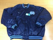 Vintage Nike UNC North Carolina Tar Heels Satin Varsity Jacket Blue XXL