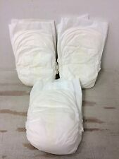 Vintage Plastic Backed  Diapers ABDL Special Teen/Young Adult White Wet Indicato