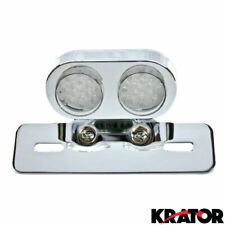 Custom Chrome Motorcycle LED Tail Brake Light with built in Turn Signal Lights