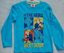 New Fireman Sam  #The Hero Next Door Long Sleeved Top / T-shirt 8yrs Light Blue
