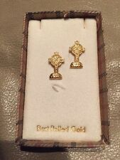 Set Of Two Cross Shaped Best Rolled Gold Lapel Pins