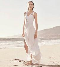 New  $368 BCBG Max Azria Juliana Cutout Ruffle  Dress Gown S 4 White