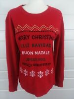 Laura Scott Womans Sz Small Bright Red Christmas Sweater Pullover Long Sleeve