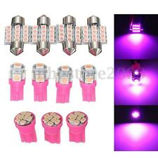 11Pcs Purple LED Interior Light Package T10 & 31mm License Plate Lamp Dome Map