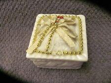 Basketweave trinket box. unicorn marked on the bottom. porcline