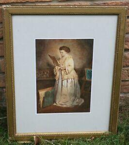 A fine 19th century watercolour - The art collector