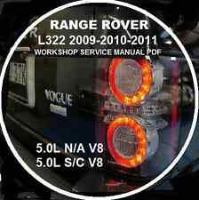 RANGE ROVER L322 2009-2010-11 5.0L N/A-S/C V8 3.6 TDV8 WORKSHOP REPAIR MANUAL CD