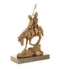 9973386 Bronze Sculpture Cavalier Paire sur Cheval Abhang vers le Bas Equitation