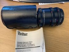 Vivitar Automatic Extension Tube Set CANON FL-FD AT-4 36mm With Case NICE! READ!