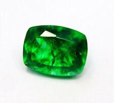 Natural Certified Cushion Emerald 6 Carat Green Zambian Emerald Loose Gemstone