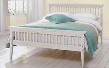 Kingsize Bed Wood Frame 5ft WHITE Shaker  + Mattress