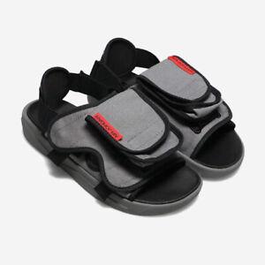 Nike Jordan LS Slide Size 7 Mens Smoke Grey Red Sandals CZ0791 001