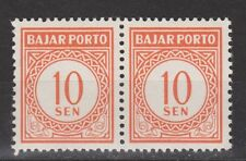 Indonesia Indonesie port nr. 14 pair MLH ong due portzegel 1958
