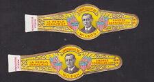 Ancienne  Bague de Cigare Vitola BN106154 Homme Président Wilson