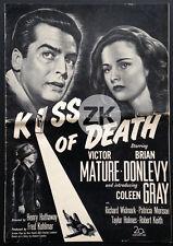 KISS OF DEATH Carrefour de la mort HATHAWAY Film Noir US Press Book Fox DP 1947
