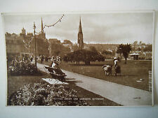 Putting Green & Gardens Rothesay Old Postcard Valentines Photo Brown Series