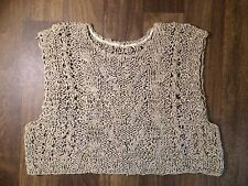 Burning Torch Crochet Leather Top [Brand New]