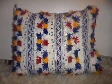 Moroccan Wedding Blanket Cushion Cover Cream Handira AR