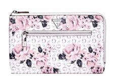NEW Guess Logo Pink Floral Print Large Travel Phone Clutch Bag Wallet