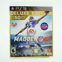 Madden NFL 16 Deluxe Edition: Playstation 3 [Brand New] PS3