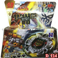 Rare Beyblade Set Toy Fusion Metal Fight Master 4D Tops Rapidity + Launcher LOT