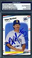 Edgar Martinez PSA DNA Coa Autograph 1988 Fleer Rookie Hand Signed