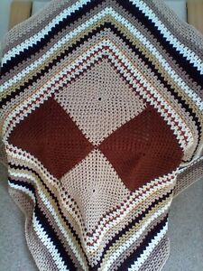 NEW HAND CROCHETED BLANKET OR THROW