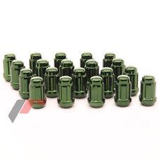 JAPAN RACING Stahl Lug Nuts M12 x 1.5 Radmuttern GRÜN 20 Stück